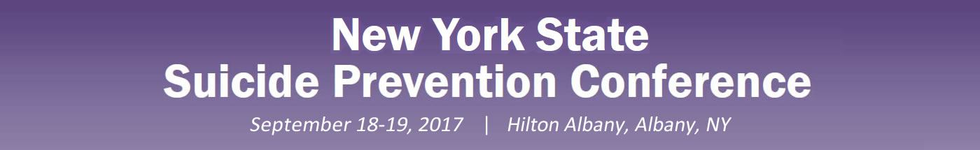 NYS Suicide Prevention Conference Banner